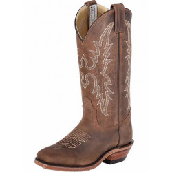 Canada West Ladies Brahma Ropers Dark Brown Crazy Horse Boots