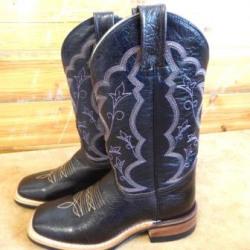Canada West Ladies Brahma Cordoba Brown Blue Western Boots
