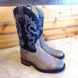 Canada West Men's Bull Rider Saloon Bison Cowboy Boots