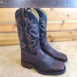 Canada West Bull Rider Volcano Crazy Horse Cowboy Boots