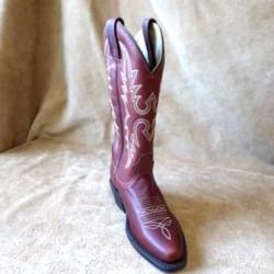 Canada West Ladies Deertan Cowboy Boots