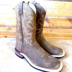 Canada West Men's Aged Bark Rough Rider Western Boots