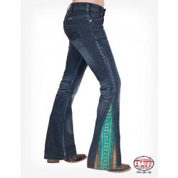 Cowgirl Tuff Ladies Aztec Flare Jean