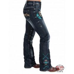 Cowgirl Tuff  Ladies Warrior Dark Wash Jean
