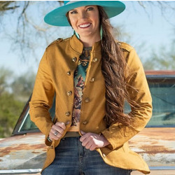 Cowgirl Tuff Military Style Vintage Gold Coat