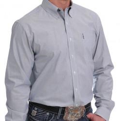 Cinch Modern Fit Light Blue Stripe Button Western Shirt