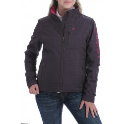 Cinch Ladies Concealed Carry Bonded Jacket Brown Fuchsia