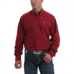 Cinch Men's Solid Burgundy Button Western Shirt