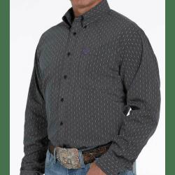 Cinch Men's Black Geo Print Button Down Western Shirt