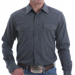 Cinch Men's Solid Dark Gray Western Snap Shirt