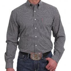 Cinch Men's Modern Fit Navy Orange White Floral Design Button Shirt