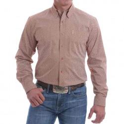 Cinch Men's Coral Print Button Western Shirt