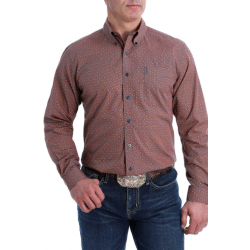 Cinch Men's Coral Print Modern Fit Western Shirt