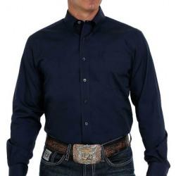 Cinch Men's Long Sleeve Button Solid Navy Western Shirt