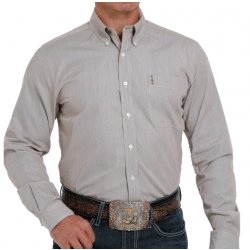 Cinch Men's Modern Fit Brown Strip Button Western Shirt
