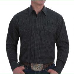 Cinch Men's Black Print Long Sleeve Western Shirt