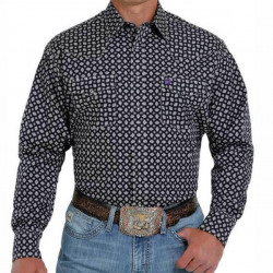 Cinch Men's Black Print Snap Western Shirt