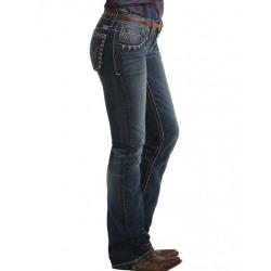 Cruel Girl Abby Slim Boot Cut Dark Stonewash Jean