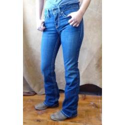 Cruel Ladies Hannah Dark Stone Moderate Rise Boot Cut Jeans