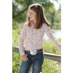 Cruel Girls Pink Arrow Print Snap Western Shirt