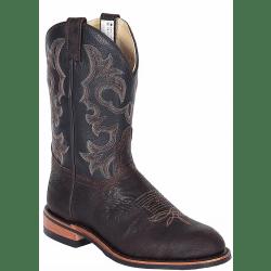 Canada West Brahma Ranchman Brown Oiled Bullhide Roper Boots