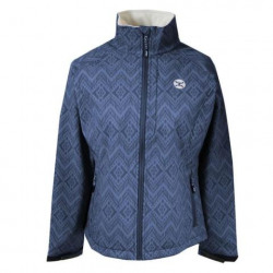Hooey Ladies Navy With Cream Design Softshell Jacket