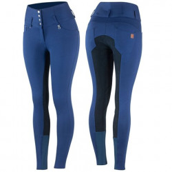 Horze Ladies High Waist Breeches With Leather Full Seat