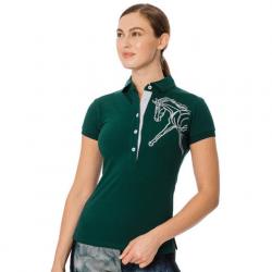 Horseware Ireland Ladies Flamboo Polo Shirt Green
