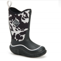 Muck Boots Kid's Hale Cow Black