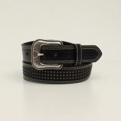 Ariat  Men's Basketweave White Underlay Black Belt
