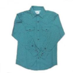 Cinch Boy's Green Paisley Western Shirt