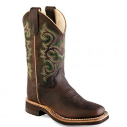 Old West Kids Brown Cowboy Boots BSC1822