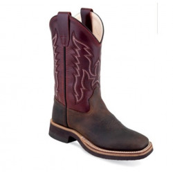Old West Kids Red Western Boots BSC1889