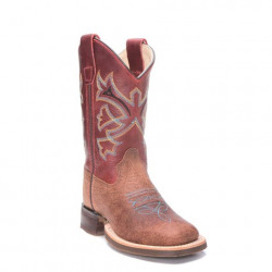 Old West Kids Rust Red Cowboy Boots