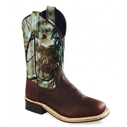 Old West Youth Camo Cowboy Boots BSY1816