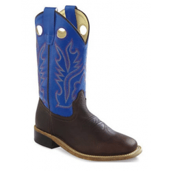 Old West Youth Blue Cowboy Boots