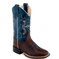 Old West Kids Blue Western Boots BSC1914