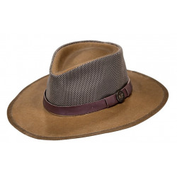 Outback Traders Field Tan Kodiak With Mesh Hat