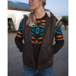 Outback Trading Ladies Heidi Vest Brown
