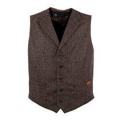 Outback Trading Men's Jessie Dark Brown Vest