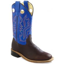 Old West Kids Blue Cowboy Boots BSC1840