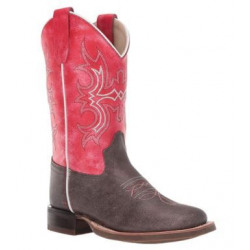 Old West Kids Red Cowboy Boots