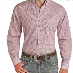 Panhandle Men's Black Pink Orchid Print Button Western Shirt