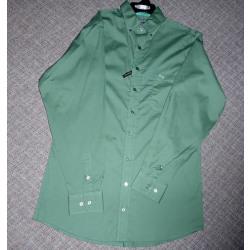 Panhandle Men's Solid Green Button Western Shirt