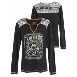 Panhandle Ladies Trail Blazer Graphic Gold White T Shirt