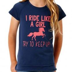Roper Girls Graphic Tee Ride Like A Girl