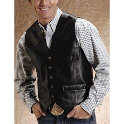 Roper Men's Lambskin Vest Black
