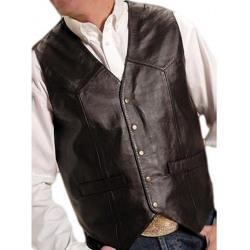 Roper Men's Black Lambskin Vest
