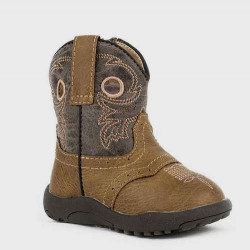 Roper Infant Faux Leather Daniel Tan Western Boots