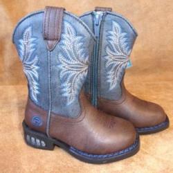 Roper Toddler Girls Dazzle Brown Western Boots